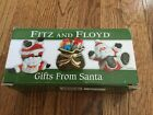 Fitz and Floyd GIFTS FROM SANTA Claus Tumblers Set of 3 Christmas Decorations