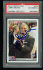 Larry Brown #375 signed autograph 2004 Topps Total Basketball Card PSA Slabbed