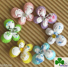 60x 1 Padded 2 Layer Floral Flower Print Cotton Felt Butterfly Appliques ST159M