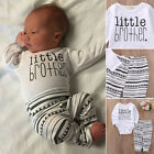 US Newborn Toddler Infant Baby Boy Girl Clothes T shirt Tops+Pants Outfits Set