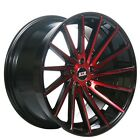 New4 20 Staggered STR Wheels 616 Red Rims