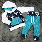 2Pcs Toddler Baby Boys Hoodie Tops Pants Home Outfits Set Clothes USA Seller
