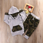 2pcs Newborn Infant Baby Boy Girls Clothes Hooded T shirt Tops+Pants Outfits US
