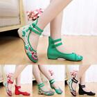 Hot Women Embroidery Chinese Style Dichotomanthes Bottom Casual Flat Shoes