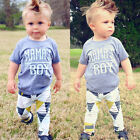 Newborn Infant Baby Mamas Boy T shirt+ Long Pants Outfits Clothes Playsuit US