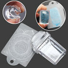 Transparent Nail Art Stamper Template Scraper Clear Silicone Stamping Plate Set