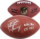 Peyton Manning Denver Broncos Autographed Pro Football with NFL Rec 55 TDS Insc