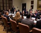 OBAMA MEETS WITH PRESIDENTIAL INNOVATION FELLOWS 11x14 SILVER HALIDE PHOTO PRINT
