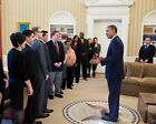OBAMA WITH INAUGURAL NATIONAL CITIZEN CO-CHAIRS 11x14 SILVER HALIDE PHOTO PRINT