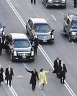 PRESIDENT AND MICHELLE OBAMA WAVING AT PARADE 11x14 SILVER HALIDE PHOTO PRINT