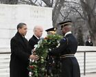 OBAMA AND BIDEN AT TOMB OF THE UNKNOWN SOLDIER 11x14 SILVER HALIDE PHOTO PRINT