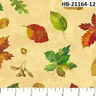 Harvest Blessings 21164 12 Quilt fabric Cotton Northcott Fall Leaves on Cream