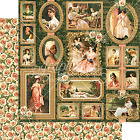 Graphic45 ELIZABETH 12x12 Dbl Sided Scrapbooking 2pc Papers VINTAGE BEAUTY