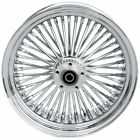 16 35 48 Fat Spoke Front Wheel Chrome Rim Single Disc Harley Softail Touring