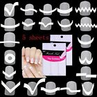 5 sheet set Nail Art Transfer Stickers 3D Design Manicure Tips Decal Decoration