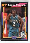 1992  LARRY JOHNSON - Kenner - Starting Lineup Card - CHARLOTTE HORNETS
