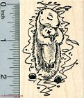 Sea Otter Mother Rubber Stamp with Baby J31824 WM