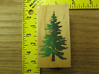 Rubber Stamp Pine Tree All Night Media Scene Building Stampinsisters 1906