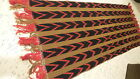 Antique Victorian Mission Wool RUNNER, FRINGED TABLE SHAWL 56