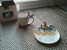Fitz and Floyd easter eggs press painting mug & canapé plate
