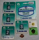Girl Scout Numbers Patches and Pins GSA