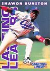 1996  SHAWON DUNSTON - Starting Lineup Card - CHICAGO CUBS