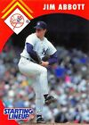 1995  JIM ABBOTT - Starting Lineup Card - NEW YORK YANKEES