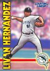 1999  LIVAN HERNANDEZ - Starting Lineup Card - FLORIDA MARLINS
