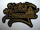 KING DIAMOND YELLOW LOGO  EMBROIDERED PATCH