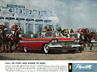 Hialeah Park Race Track Florida HORSE RACING Plymouth Sport Fury 1959 Print Ad