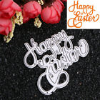 Happy Easter Metal Cutting Dies Stencil DIY Scrapbooking Album Card Embossing
