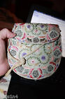 Vintage Original EMBROIDERED HAND BAG Purse 1940s