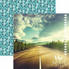 Paper House THE ROAD IS LIFE 12x12 Dbl Sided Scrapbooking 2pc Paper TRAVEL