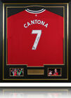 Eric Cantona Signed Manchester United Number 7 Shirt Display