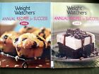 LOT OF 2 WEIGHT WATCHERS ANNUAL RECIPES FOR SUCCESS 2005  2006 HARDCOVER