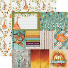 Paper House WOODLAND FRIENDS 12x12 Dbl Sided Printed Cardstock 3x4 4x6 Cards