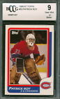 1986-87 Topps #53 Patrick Roy Rookie Card Graded BCCG 9