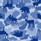 Premium Anti Pill Deer Moose Polar Fleece No Sew Tie Blanket Scarf Fabric