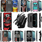 Shockproof Dual Layer Clip Holster Stand Heavy Duty Case for Samsung S8 S7 S6
