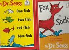 Dr Seuss:Fox in Socks HC/One fish Two Fish Red Fish Blue Fish HC