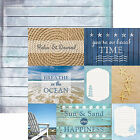 Paper House AT THE BEACH TAGS 12x12 Dbl Sided Printed Cardstock 3x4 4x6 Cards