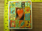 Rubber Stamp Nature Heart by Uptown Butterfly Tree Flower Stampinsisters 1433