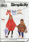 SIMPLICITY 9135 Rain Poncho Converts to Fanny Pack BIRCH STREET Pattern UC 3-8