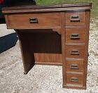 Vintage Pfaff 130 Sewing Machine Stand/Table/Cabinet 5 Drawer Desk Hideaway