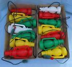 2 Sets of Vintage Lantern String Lights Blow Mold Camping Patio RV Party NICE!