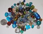 100 Mixed Glass Foil Beads All Colors  Sizes Large Pony Round Barrel Rice