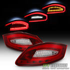 2005 2008 Porsche Boxster 987 06 08 Cayman Red LED Tube Tail Lights Lamps Pair