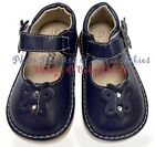 Girls Squeaky Shoes NAVY BLUE ADD A BOW Wear Plain or w Bow DEFECTIVE SQUEAKERS