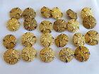 Lot of 23  Vintage Buttons gold tone metal rope style coat blazer dress