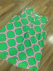 NWOT CROWN  IVY Woman Green Pink Links Dressy Lilly Sleeveless Top Size 0X XL